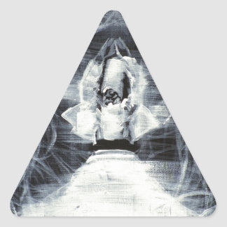 sufi whirling - february 19,2013.JPG Triangle Sticker