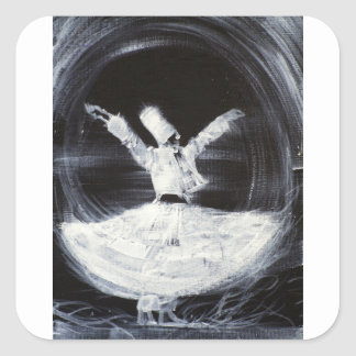 sufi whirling - february 21,2013.JPG Square Sticker