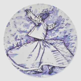 sufi whirling - NOVEMBER 19,2017 Classic Round Sticker