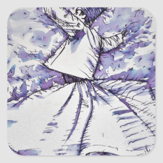 sufi whirling - NOVEMBER 19,2017 Square Sticker