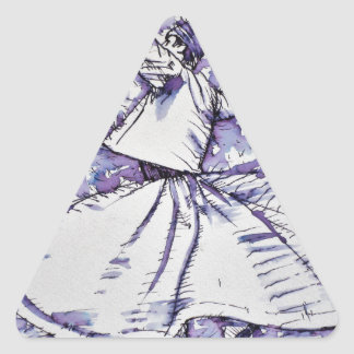 sufi whirling - NOVEMBER 19,2017 Triangle Sticker