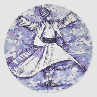sufi whirling - NOVEMBER 21,2017 Classic Round Sticker