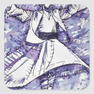 sufi whirling - NOVEMBER 21,2017 Square Sticker