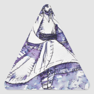 sufi whirling - NOVEMBER 21,2017 Triangle Sticker