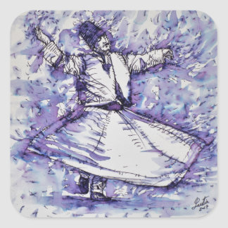 sufi whirling - NOVEMBER 27,2017 Square Sticker