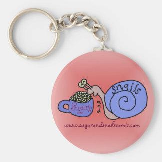 Sugar and Snails Logo Key Ring