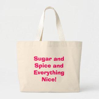 Sugar and Spice and Everything Nice! Jumbo Tote Bag