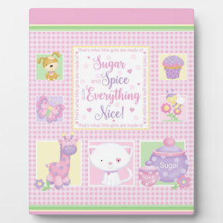 Sugar and Spice Baby Art Easel Photo Plaques