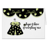 Sugar and Spice Baby Congratulations Greeting Card