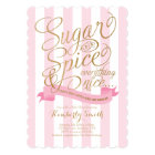 Sugar and Spice Baby Girl Baby Shower Invitation