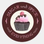Sugar and Spice Baby Shower Favor Sticker