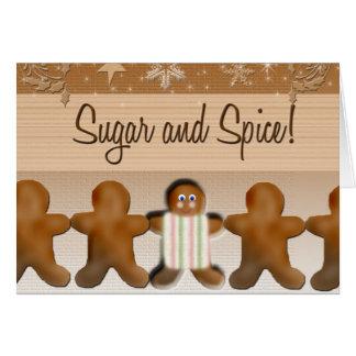 Sugar and spice baby shower invitation