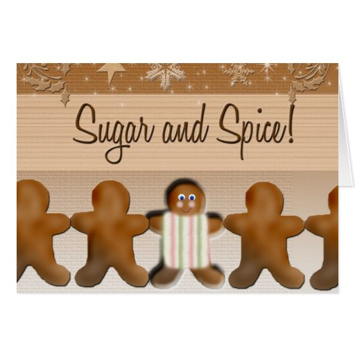 Sugar and spice baby shower invitation card