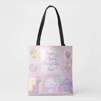 Sugar and Spice Baby Tote Bag