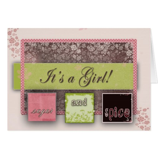 Sugar and spice greeting cards
