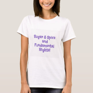 Sugar and spice feminist t-shirt
