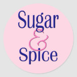 Sugar and Spice Round Stickers