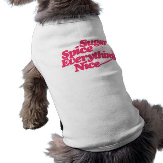 Sugar and Spice Sleeveless Dog Shirt