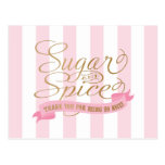 Sugar and Spice Themed Postcards