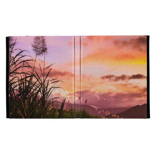Sugar Canem Blossom at Sunset iPad Case