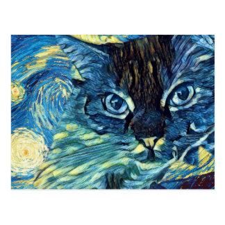 Sugar Cat Astral Postcard
