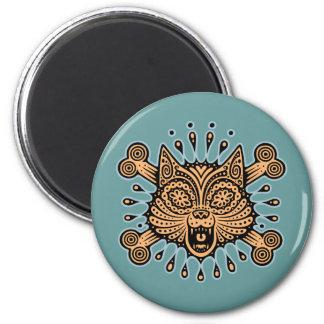 Sugar Cat Pirate 6 Cm Round Magnet