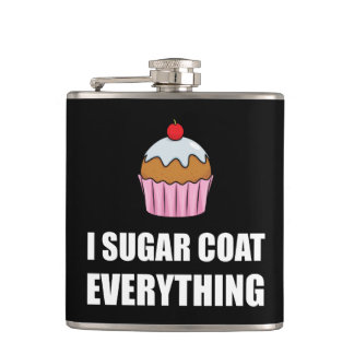 Sugar Coat Everything Cupcake Hip Flask