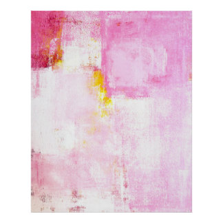 'Sugar Coded' Pink Abstract Art Poster Print