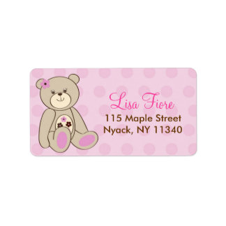 Sugar Cookie Teddy Bear Baby Shower Address Labels