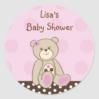 Sugar Cookie Teddy Bear Envelope Seals Stickers