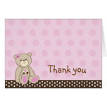 Sugar Cookie Teddy Bear Thank You Note Cards
