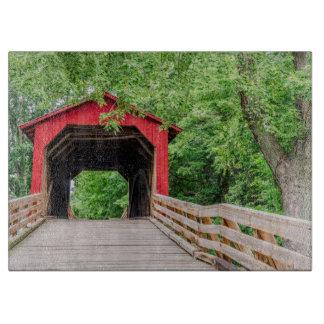 Sugar Creek Covered Bridge, Glenarm, Illinois Cutting Board