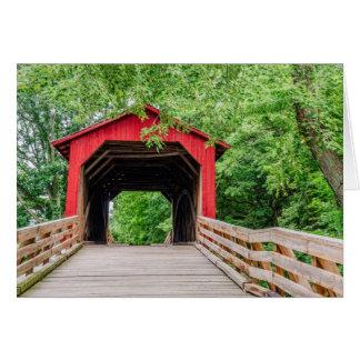 Sugar Creek Covered Bridge - Glenarm - Illinois Greeting Card
