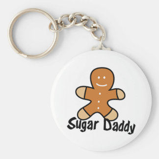 Sugar Daddy Gingerbread Man Basic Round Button Key Ring