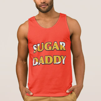 SUGAR DADDY Orange Swirl Candy Red Tanktop Singlet
