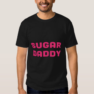 SUGAR DADDY pink text design T-shirts