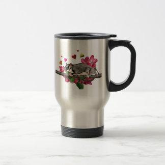 Sugar Glider Flowers and Hearts Travel Mug