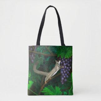 Sugar Glider In Grape Vines Tote Bag