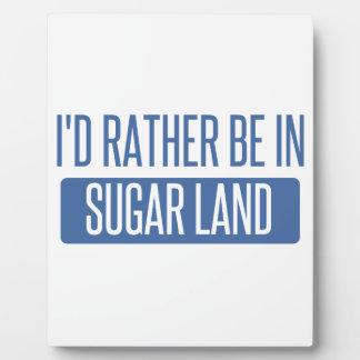 Sugar Land Plaque