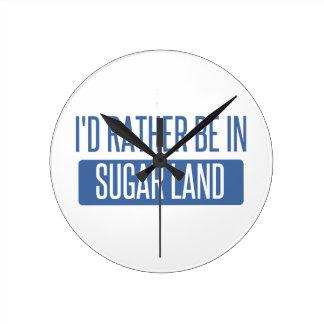 Sugar Land Round Clock