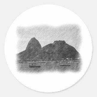 Sugar Loaf by Pencil Round Sticker