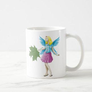 Sugar Maple Tree Fairy Holding Leaf Coffee Mug