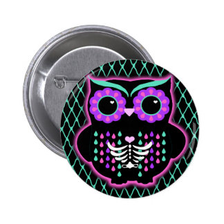 Sugar Owl 6 Cm Round Badge