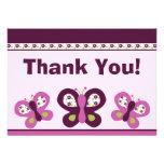 Sugar Plum Butterflies #2 Thank You Card Custom Invites