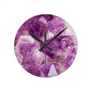 Sugar Plum Fairy Crystals Round Clock