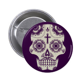Sugar skull 6 cm round badge