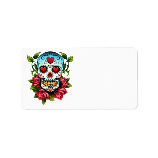 Sugar Skull Address Label