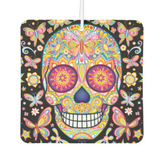 Sugar Skull Air Freshener - Day of the Dead Art