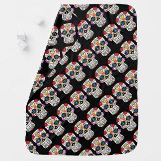 Sugar Skull anchor rose  Custom  baby   Blanket Swaddle Blankets