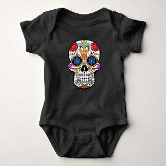Sugar Skull anchor rose  Custom  baby one piece Baby Bodysuit